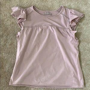 Lavender garment dyed top
